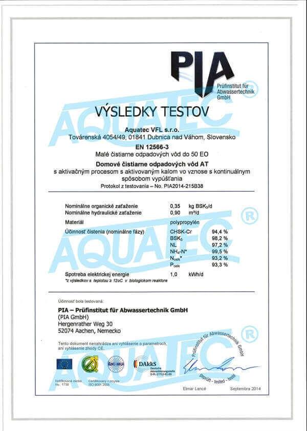 Čistící účinek čistíren AT PLUS s technologií VFL®